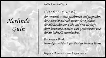 Zur Gedenkseite von Herlinde Guln