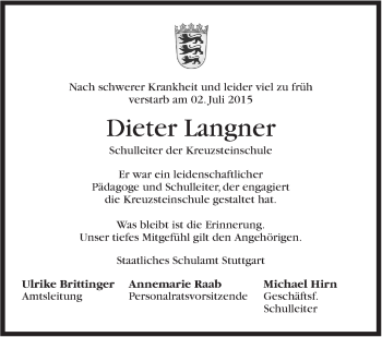 Zur Gedenkseite von Dieter Langner