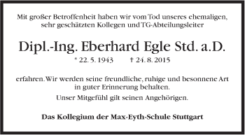 Zur Gedenkseite von Eberhard Egle