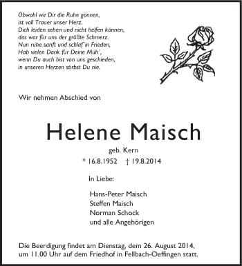Zur Gedenkseite von Helene Maisch