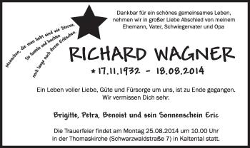 Zur Gedenkseite von Richard Wagner