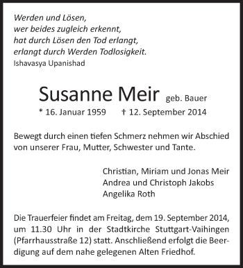 Zur Gedenkseite von Susanne Meir