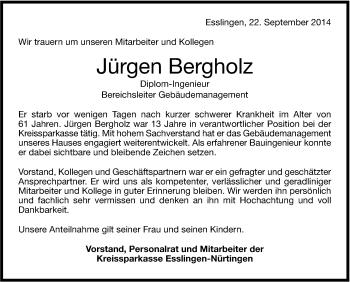 Zur Gedenkseite von Jürgen Bergholz