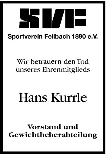 Zur Gedenkseite von Hans Kurrle