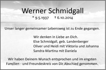 Zur Gedenkseite von Werner Schmidgall