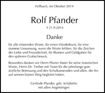 Zur Gedenkseite von Rolf Pfander