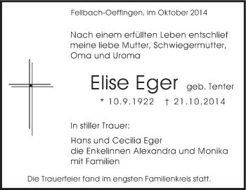 Zur Gedenkseite von Elise Eger