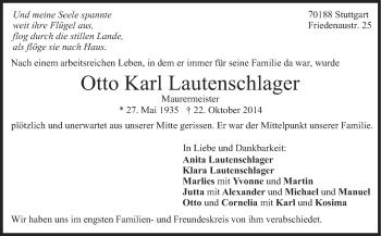 Zur Gedenkseite von Otto Karl Lautenschlager