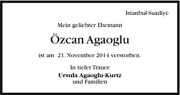 Zur Gedenkseite von Özcan Agaoglu