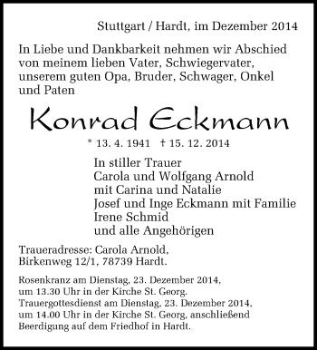 Zur Gedenkseite von Konrad Eckmann