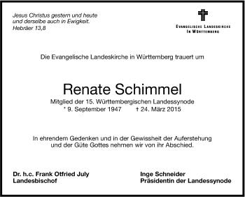 Zur Gedenkseite von Renate Schimmel