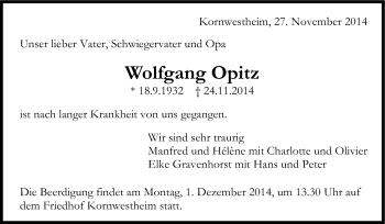 Zur Gedenkseite von Wolfgang Opitz