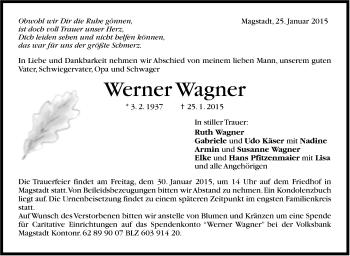 Zur Gedenkseite von Werner Wagner