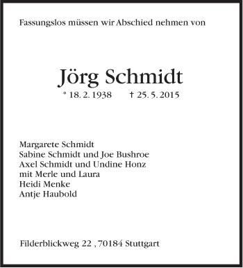 Zur Gedenkseite von Jörg Schmidt