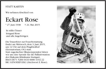 Zur Gedenkseite von Eckart Rose