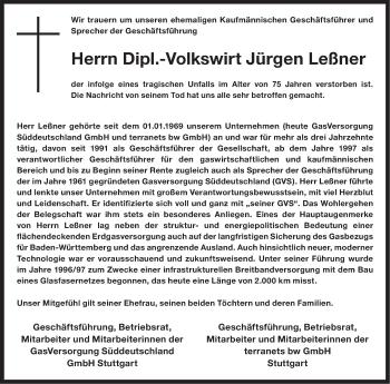 Zur Gedenkseite von Jürgen Leßner