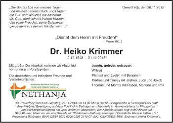 Zur Gedenkseite von Heiko Krimmer
