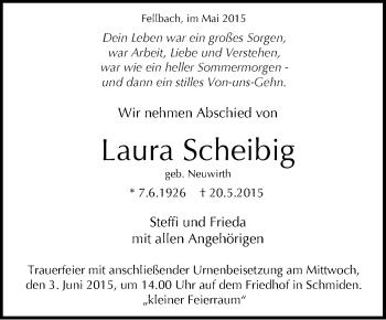 Zur Gedenkseite von Laura Scheibig
