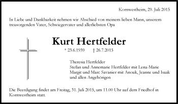 Zur Gedenkseite von Kurt Hertfelder