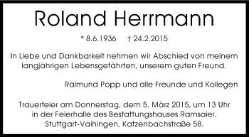 Zur Gedenkseite von Roland Herrmann