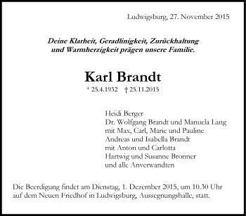Zur Gedenkseite von Karl Brandt