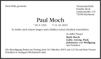 Zur Gedenkseite von Paul Moch