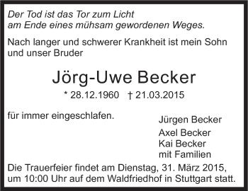 Zur Gedenkseite von Jörg-Uwe Becker