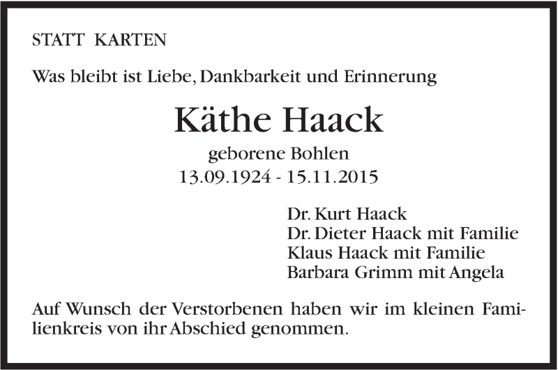 Käthe Haack