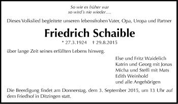 Zur Gedenkseite von Friedrich Schaible