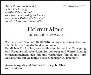 Zur Gedenkseite von Helmut Alber