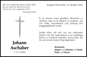 Zur Gedenkseite von Johann Aschaber