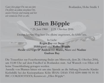 Zur Gedenkseite von Ellen Böpple