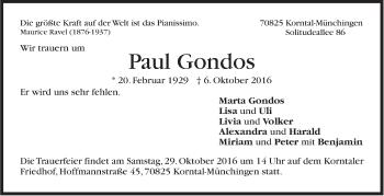 Zur Gedenkseite von Paul Gondos