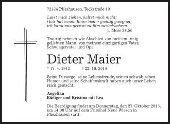Zur Gedenkseite von Dieter Maier