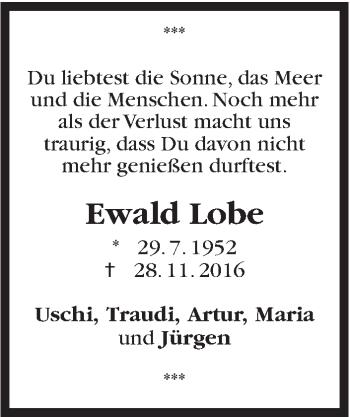 Zur Gedenkseite von Ewald Lobe