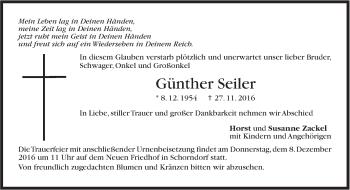 Zur Gedenkseite von Günther Seiler