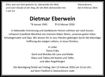 Zur Gedenkseite von Dietmar Eberwein