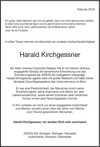 Zur Gedenkseite von Harald Kirchgessner