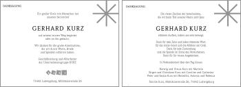 Zur Gedenkseite von Gerhard Kurz