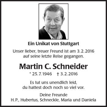 Zur Gedenkseite von Martin Schneider