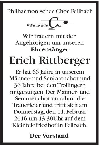 Zur Gedenkseite von Erich Rittberger