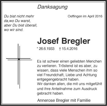 Zur Gedenkseite von Josef Bregler