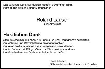 Zur Gedenkseite von Roland Lauser