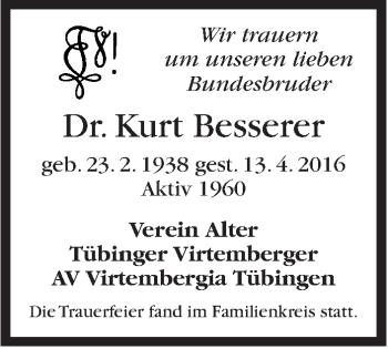 Zur Gedenkseite von Kurt Besserer