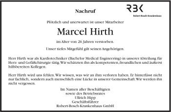 Zur Gedenkseite von Marcel Hirth