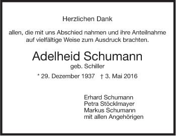 Zur Gedenkseite von Adelheid Schumann