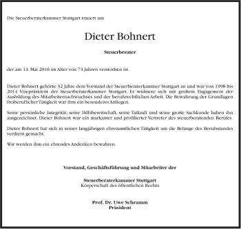 Zur Gedenkseite von Dieter Bohnert