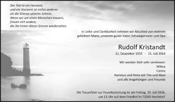 Zur Gedenkseite von Rudolf Kristandt