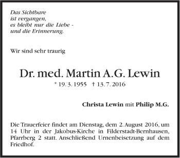 Zur Gedenkseite von Martin Lewin