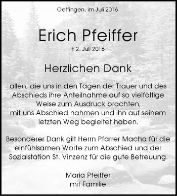 Zur Gedenkseite von Erich Pfeiffer